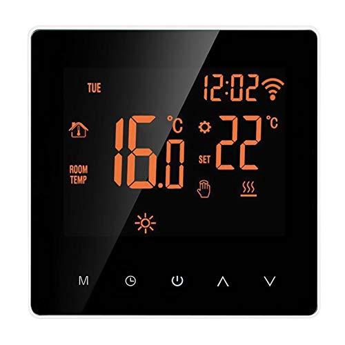 SODIAL Termostato Inteligente Wi-Fi Control de AplicacióN Pantalla TáCtil LCD Termostato de CalefaccióN de Suelo EléCtrico Programable Semanal para el Hogar 16A