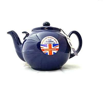 Hand Made Brown Betty Teapot - 10 Cup in Cobalt Blue with Helping Hand