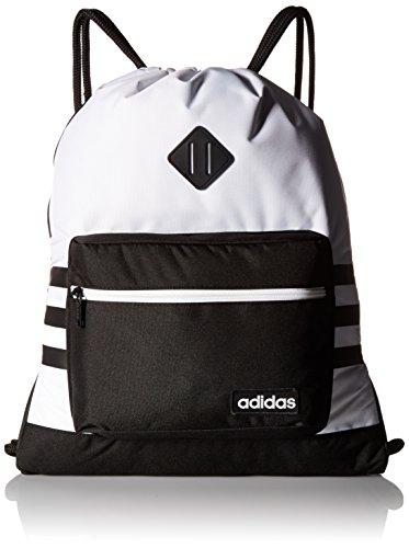 adidas Bolso unisex clásico 3s Sackpack, Unisex, Bolsa, 976595, blanco y negro, Talla única
