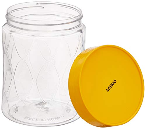 Amazon Brand - Solimo Plastic Wavy Pattern Storage Container Set with Wide Mouth (20 Pieces, Large)