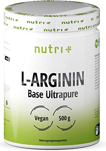 L-ARGININ BASE PULVER 500g - höchste Dosierung - pflanzlich durch Fermentation - reines L-Arginine Powder - Vegan - Neutral - ohne Zusatz - Premiumqualität