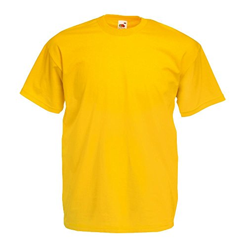 Fruit of the Loom - Classic T-Shirt 'Value Weight' L,Sunflower