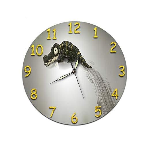 LUOYLYM Nordic Dekorative Uhr Digitale Wanduhr Acryl Uhr Stumm Kreative Stereo Uhr Wandaufkleber Zifferblatt D-335 (Luminous Hands) 28CM