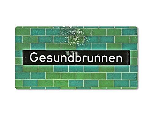Magnet / Kühlschrankmagnet Nr8030 von tom bäcker ++ BERLIN ++ GESUNDBRUNNEN ++ U-Bahnhof - U-Bahn-Station - U8