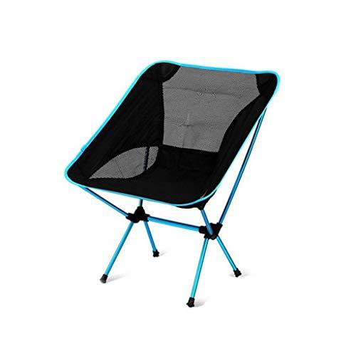 LIN HE SHOP Moon Chair, Chaise Pliante extérieure, chaises Pliantes Portables, Polyester en Alliage d'aluminium 600D d'avions, 60,5 × 56 × 65,5 cm