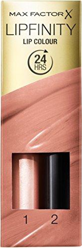 Max Factor Lipfinity Lip Colour Always Delicate 06 – Kussechter Lippenstift mit 24h Halt ohne auszutrocknen, mit intensiver Farbabgabe, präzisem Applikator & intensiv pflegendem Gloss-Top Coat
