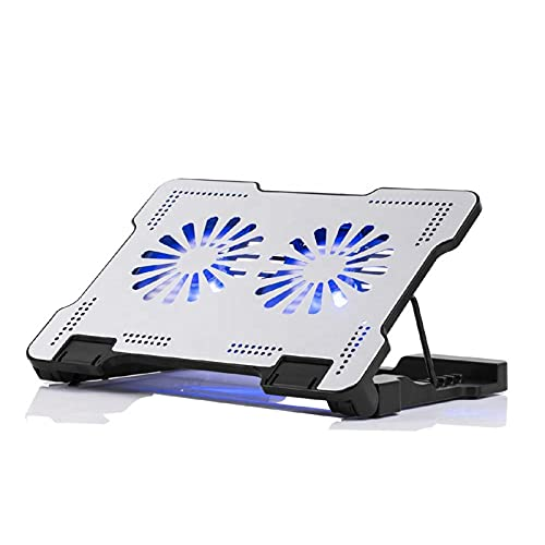 Laptop Stand, With Cooling Fan Portable Foldable MacBook Stand Adjustable Aluminum Alloy Notebook Holder, for 10-17inch Laptop