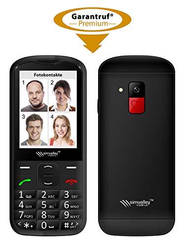 simvalley MOBILE Notrufhandy: Komfort-Handy mit Garantruf Premium, Bluetooth & 7,1-cm-Farb-Display (Rentnerhandy)