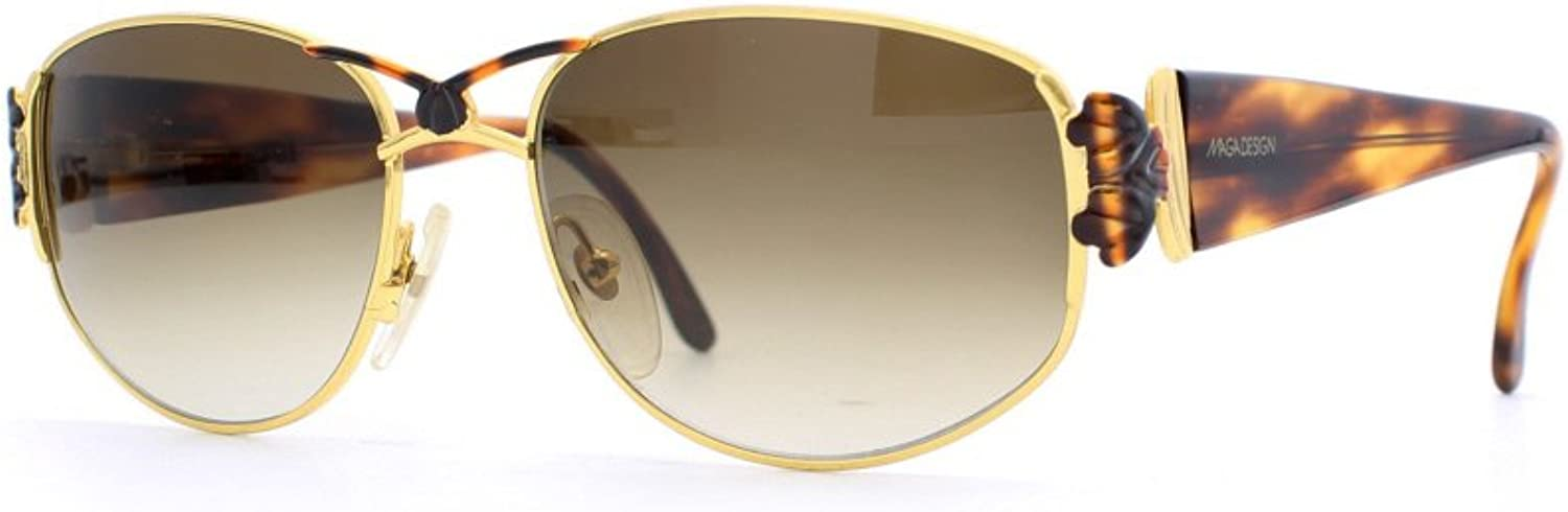Maga Design 3065 T gold and Brown Authentic Women Vintage Sunglasses