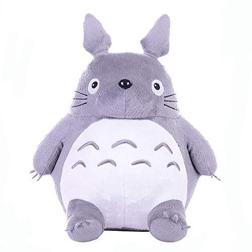XQYPYL Totoro - Cuscino in morbido peluche, ideale come regalo di compleanno, 20 cm-65 cm, grigio, 20 cm