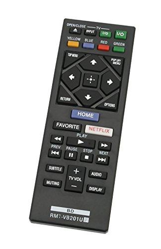 Telecomando sostitutivo VINABTY RMT-VB201U Compatibile con SONY Blu-ray BDP-S1700 BDP-S6700 BDP-S3700 Lettore DVD BDP-BX370 Sostituire per RMT-B126A (senza pulsante BLUETOOTH).