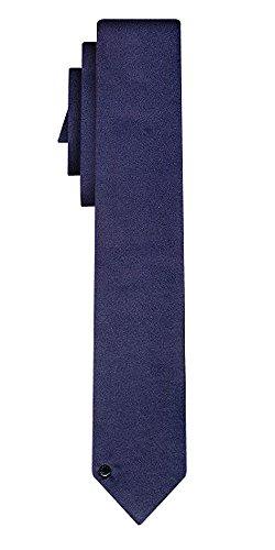 DIESEL cravate soie solid navy