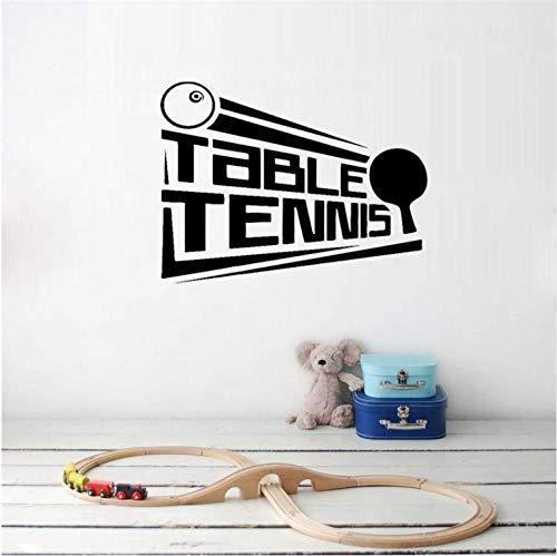 YUTAO Wall Sticker 63 * 47 Cm Tischtennis Poster Aufkleber Ping Pong Sport Decor Pvc Wandaufkleber