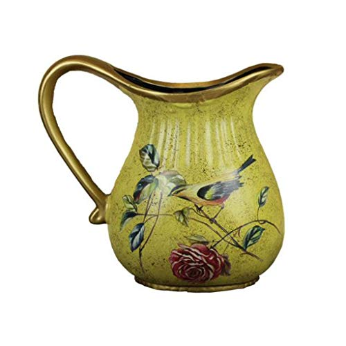 Jarrón Personalidad Tecnología Especial de Nivel de Color único artesanía Exquisita decoración Lujosa atmósfera de cerámica Jarrón