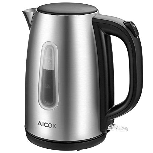 Electric kettle Aicok Stainless Steel Tea Kettle, Ultra Fast Boiling, 1.7L...