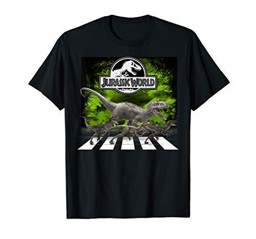 Jurassic World T-Rex & Raptor Crossing T-Shirt