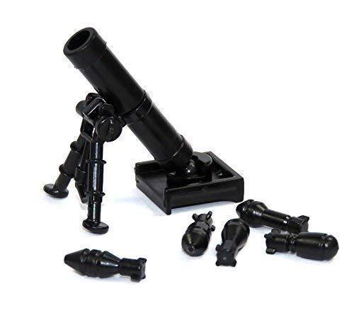 Custom 60 mm Mörser M2 schwarz WW2 Waffe Waffen für LEGO® Figuren