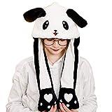 CADANIA Niños Adultos Felpa Corta Cute 3D Cartoon Panda Animal Hat con Orejas en Movimiento Doble Airbag Paws Warm Earflap Cap Toy Party Props 2#