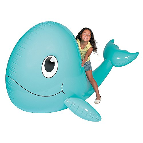 Fun Express - Giant Inflate Whale - Toys - Inflates - Inflatable Characters - 1 Piece
