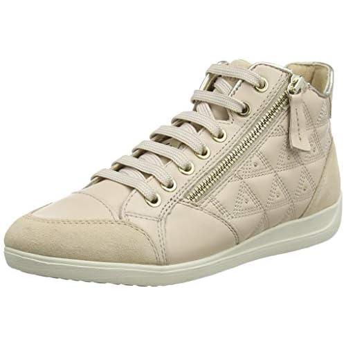 Geox D MYRIA B, Sneaker a Collo Alto Bambina, Beige (Skin C8182), 35 EU