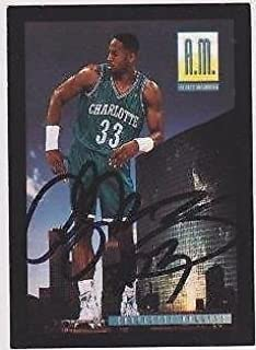 ALONZO MOURNING Signed Skybox Trading Card Sticker - JSA Certified - Unsigned Basketball Cards