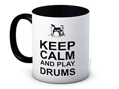 Keep Calm and Play Drums - Drummer Funny Hochwertigen Kaffeetasse
