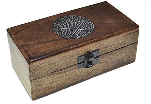 Pentagrama caja de madera Caja del tesoro Cofre del tesoro Caja de madera Caja de regalo para regalo Caja Tarjetas Colección