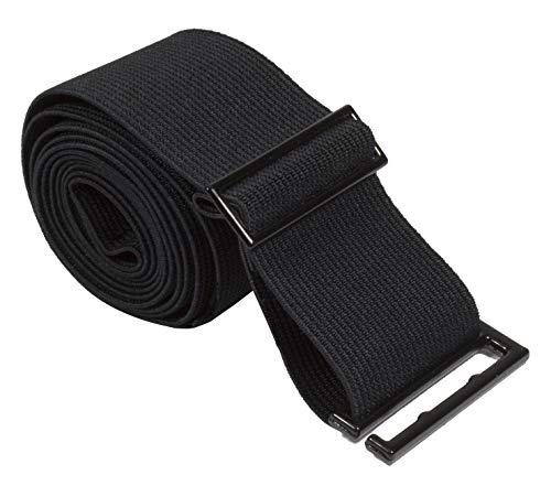 Gelante Lady Invisible Belt - Web Canvas Elastic Adjustable Skinny No Show Belt-2051-BLack (0-14)