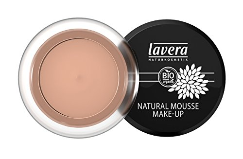 lavera Natural Mousse Makeup Foundation ∙ Farbe Almond Hautfarbe ∙ matter Teint & cremige Textur ∙ Natural & innovative Make up ✔ vegan ✔ Bio Pflanzenwirkstoffe ✔ Naturkosmetik ✔ Teint Kosmetik 1er Pack (1 x 15 g)