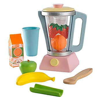 KidKraft Wooden Smoothie Set 9 Pieces Pastel Colors Children s Pretend Food Toy Gift for Ages 3+