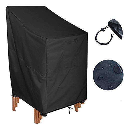 HFJKD Fundas para sillas de jardín con características Impermeables Resistentes al desgarro Funda para sillas apilables para Patio Funda para sillas de jardín reclina