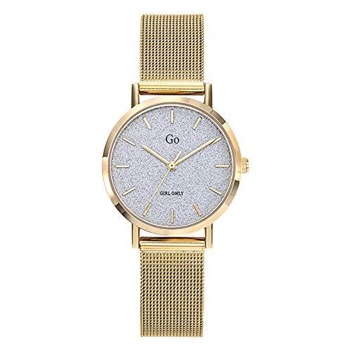 Girl Only - Reloj de pulsera analógico para mujer, oro 695940 GO con correa de acero inoxidable, UGO695940