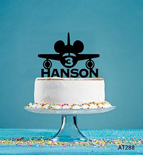 Plane Cake Topper, Gepersonaliseerde Cake Topper, Verjaardag Cake Topper, Party Decor Topper, Acryl Cake Topper, Zeilboot Party Decor