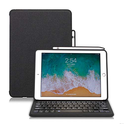 Ipad 9.7 Keyboard Case, Ipad Keyboard Case 9.7 Inch for Ipad 2018(Gen 6)/2017 (Gen 5) Multiple Angle Stand Cover with Pencil Holder And Bluetooth Keyboard