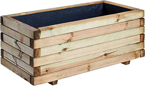 Jardinière rectangulaire en bois Stockholm 40