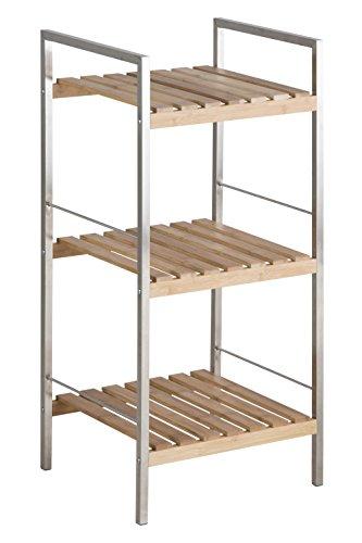 AC Design Furniture Regal Katharina, B: 35,5 x T:33 x H: 74,9 cm, Bambus, Braun