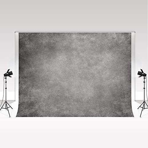 Kate 2.2x1.5m Fondo de fotografía Gris Oscuro Fondo de fotografía con Textura Abstracta Retro Fondo de Microfibra sin Pliegues para Estudio de fotografía de Retrato Profesional