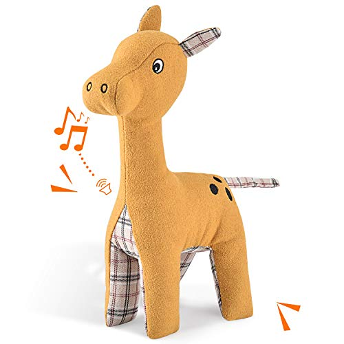 Pokeling Dog Toys Squeaky Dog Toys Dog Stuffed Animals Toy Interactive Toys for Chewers Clean Teeth Chewing and Durable Toys for Puppy Dogs and Medium Dogs Giraffe Dog Toy