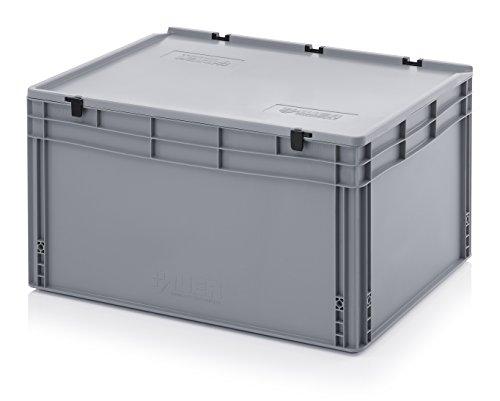 Eurobehälter-Eurobox 80 x 60 x 43,5 cm mit Scharnierdeckel inkl. gratis Zollstock