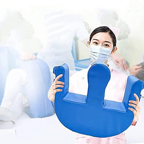 Cuscinetto Adattatore per Dispositivo di Rotazione Multifunzionale, Dispositivo per Allattamento in Pelle PU, Pad Cambio Impermeabile Blu Aiuta Gli Anziani A Girarsi