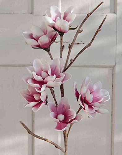 artplants.de Magnolia Artificiale Birgitta, Rosa-Bianco, 110cm - Magnolia Decorativa/Fiore Finto