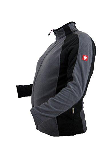 Engelbert Strauss e.s. microflece Jacke dryplexx® Micro Weiss/Schwarz/Grau (Grau, L)