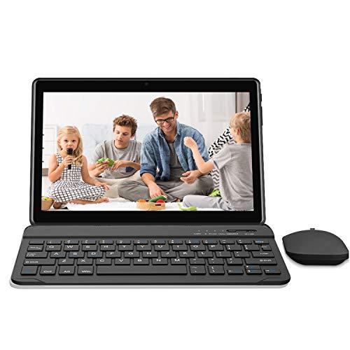 Tablet 10 Pollici 4G, HD Touch 2 in 1 tablet pc da 3GB RAM 64GB ROM , Dual SIM Android 8.1 Quad Core Doppia Fotocamera 8000mAh WiFi Bluetooth GPS OTG (P6)