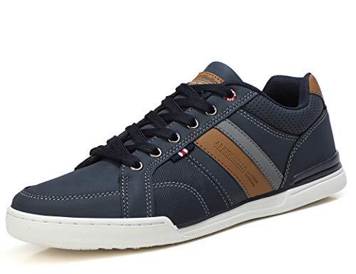 AX BOXING Sneakers Hombre Zapatos Casual Zapatillas Moda Ligero Deporte Gimnasio Running Tamaño 41-46 (Cazul, Numeric_43)