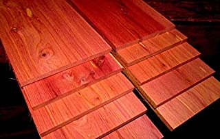 1 Packet of Kiln Dried Eastern Red Cedar Thin Lumber Size : Ten 24