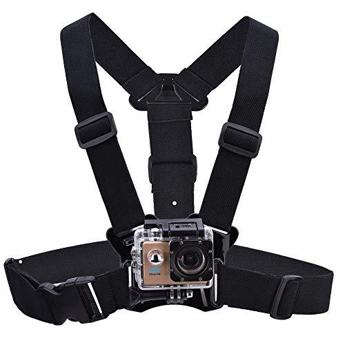 Mugast Borstbevestiging Harnas voor actiecamera, verstelbaar lichaam borst riem Mount harnas riem met Caera Mount Adapter voor Gopro Hero 5/4/3+/3 Sport Camera