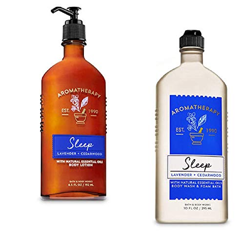 Bath & Body Works SLEEP - Lavender & Cedarwood Body Wash & Foam Bath and Lotion Set