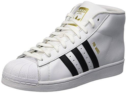 adidas Herren Superstar Pro Model Hohe Sneaker, weiß, 46 EU