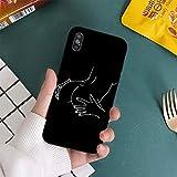 FYMIJJ Coque de téléphone Couple Sexy Ligne Minimaliste pour iPhone 11 12 Pro XS Max 8 7 6 6S Plus...