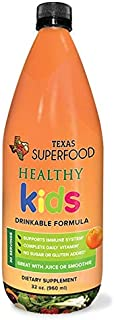 Texas SuperFood - Healthy Kids Drinkable Formula, Children's Liquid Multivitamin, Immune System Support, Complete Daily Vitamins and Minerals , 32 oz, 30 Servings